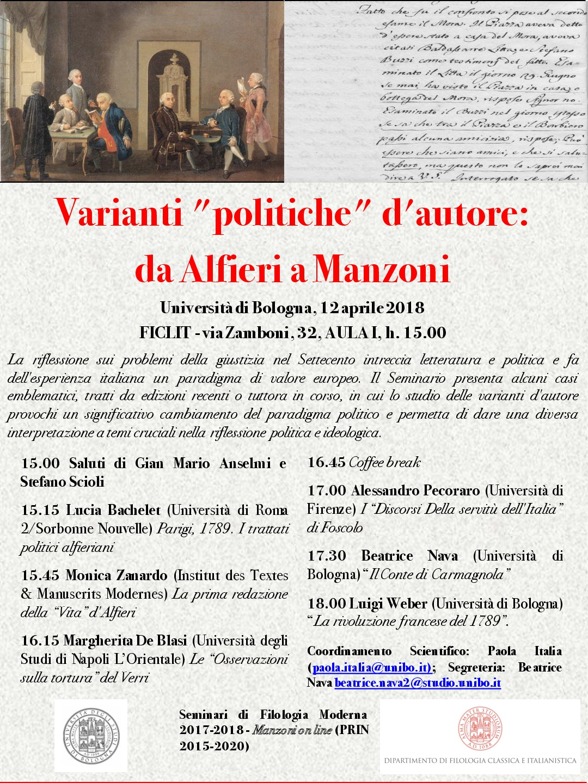 Varianti politiche da Alfieri a Manzoni 12 aprile 2018-001