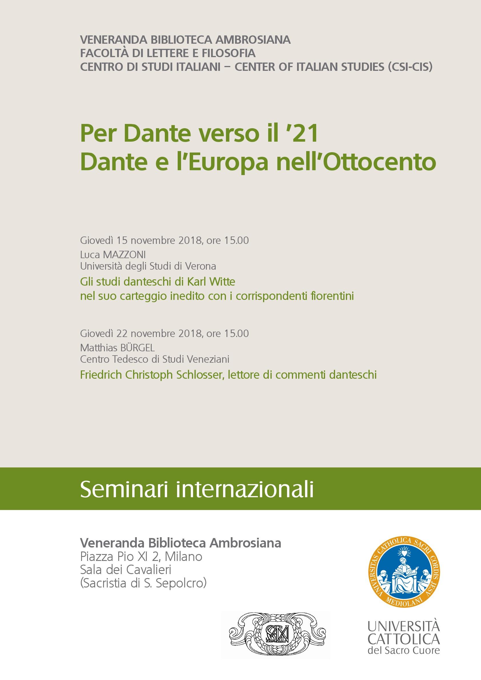 Dante e l'Europa nell'Ottocento_Seminari internazionali_Autunno 2018-001